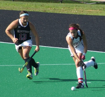 Paige Macrae zeroes in on Lehigh attacker in 2014 5-1 win