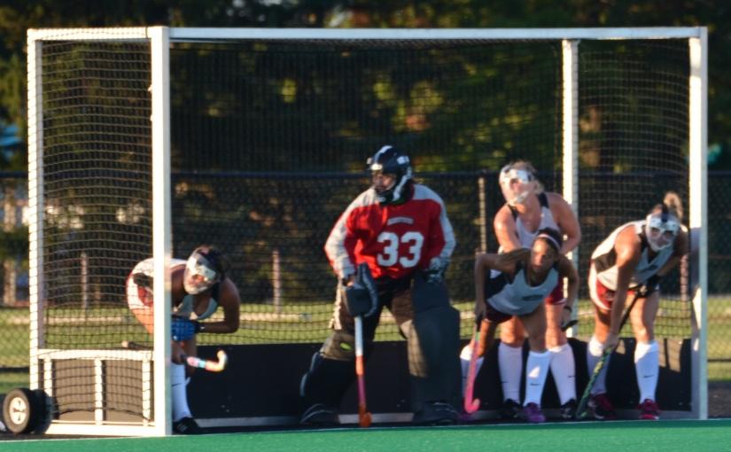 Kaitlyn Arnold In Goal Shines In PreseasonScrimmage