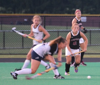 Rosie Shanks her defensive skills against Monmouth
