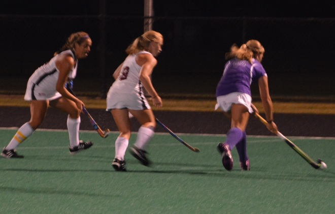 Amy Turner and Hannah Millen provide defense during the early minutes