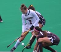 Ellen Colbourne powers her way through the Lehigh defense