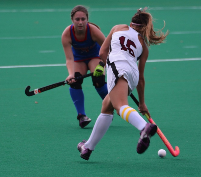Junior Amanda Magadan backs up American defender