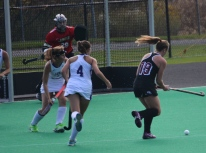 Carolyn Turnbull lines up a shot late in game