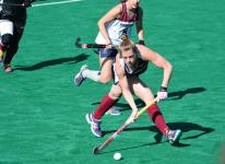 Meg Lillis moves the ball upfield against Penn
