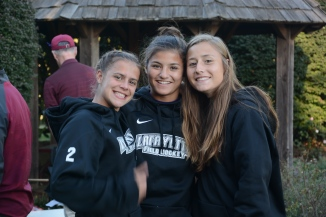 Teammates and friends Sam DiMaio, Ana Buzzard, and Jenn DeLongis