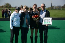 Ellen Colbourne and her parents