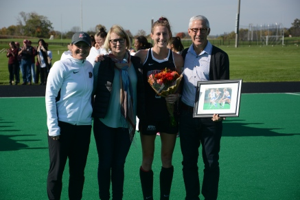 Ellen Colbourne and her parents