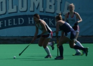 Theresa Delahanty powers her way through the Monmouth defense